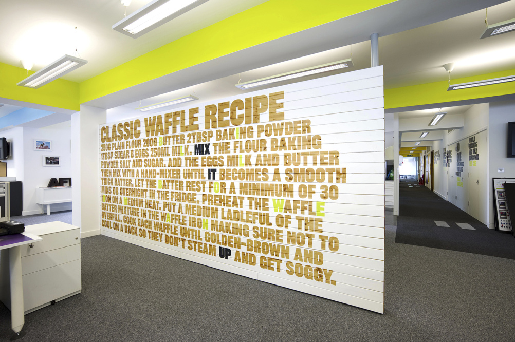 Nike London Office Waffle Wall