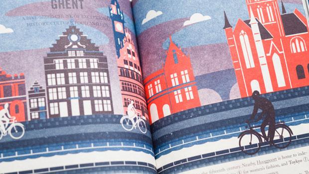 Antwerp/Ghent guide, with illustrations by Sebastiaan Van Doninck