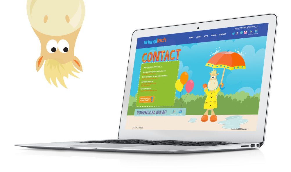 AnamilTech Website with Pacca