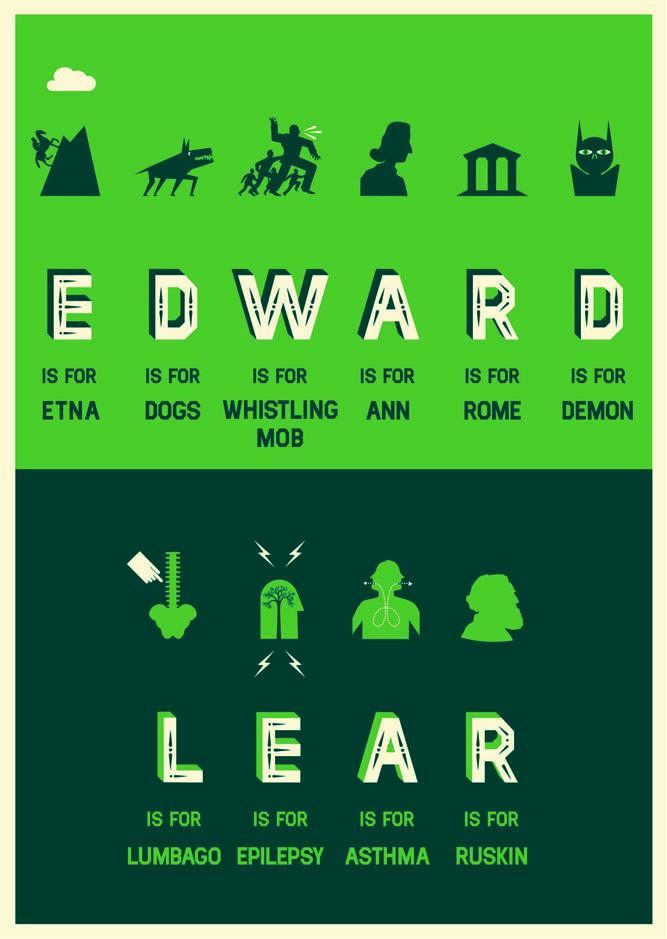 Edward Lear, by Andrew Baker