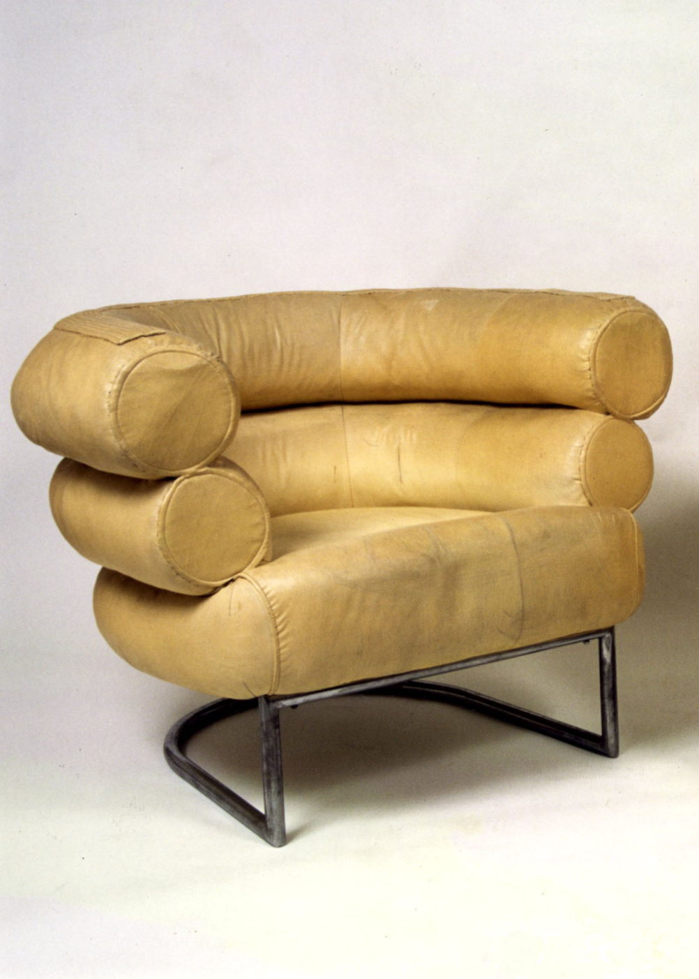Eileen Gray, Bibendum armchair, circa 1930, Chrome-plated metal, cancas, Photography:Christian Baraja, studio SLB and Provenance: Private collection, Paris