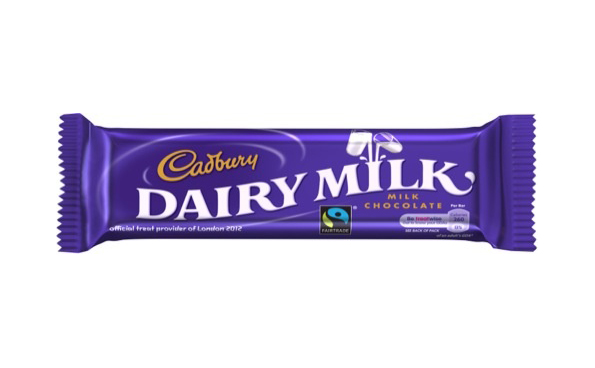 Cadbury Dairy Milk packaging, featuring 2685c purple