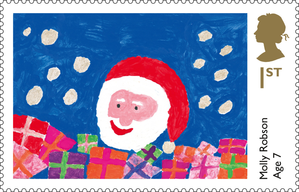 Molly Robson's first class Christmas stamp