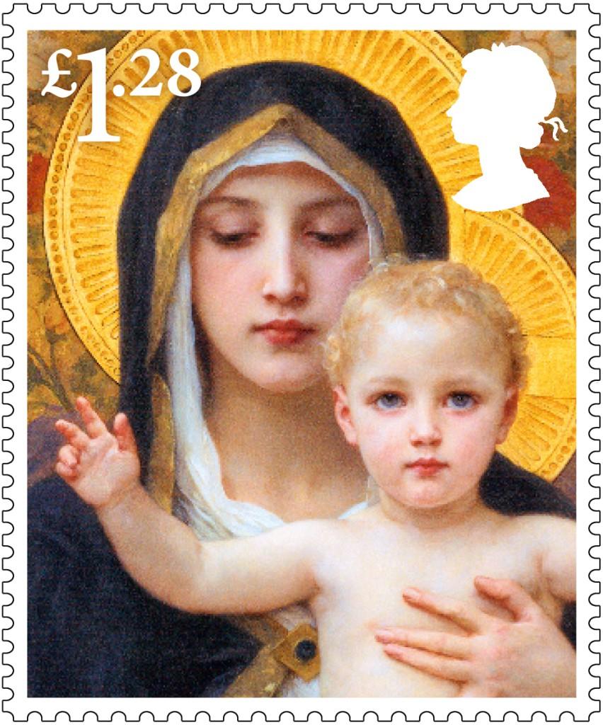 Christmas 2013 £1.28 stamp