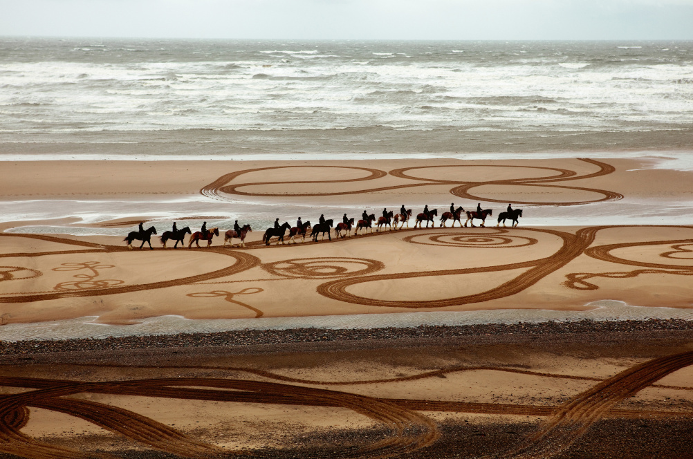 Walking Drawing with horses