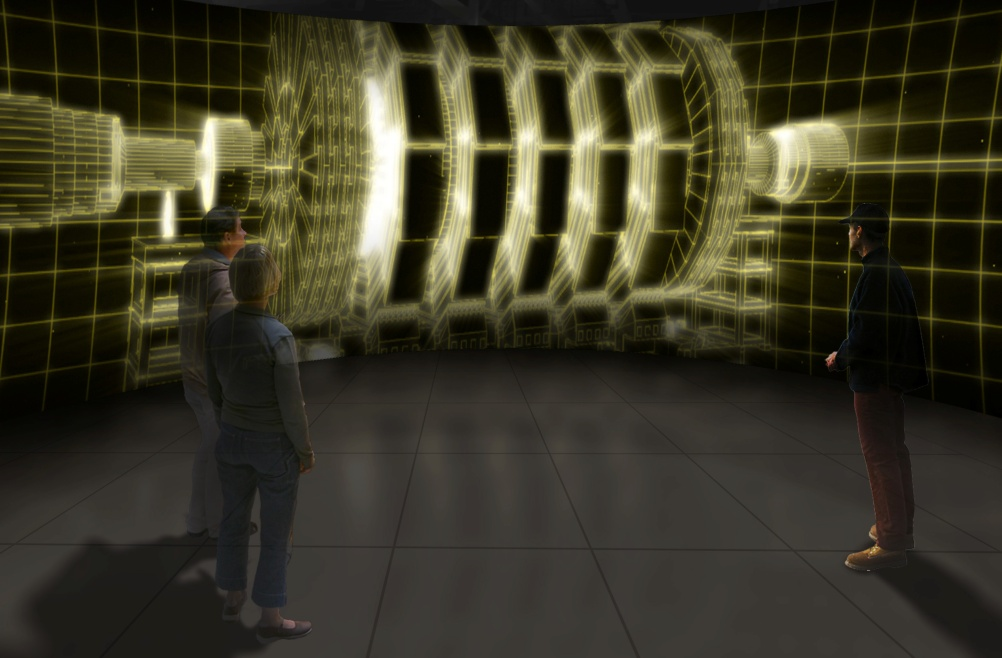 Experiencing a particle collision in the detector cavern