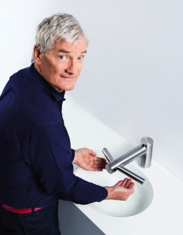 Sir James Dyson uses the Dyson Airblade Tap. Could he soon be drying his hair silently?