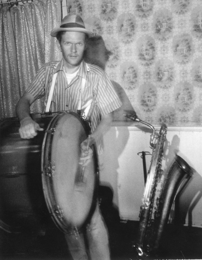 Chris Phillips of Squirrel Nut Zippers during recording sessions for the album HOT, 1994