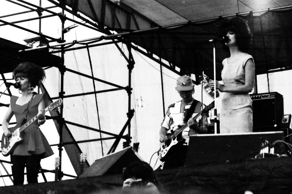 The B-52's playing Heatwave, near Toronto, 23 August 1980
