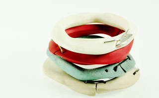 Ceramic bracelets at Design Event MART