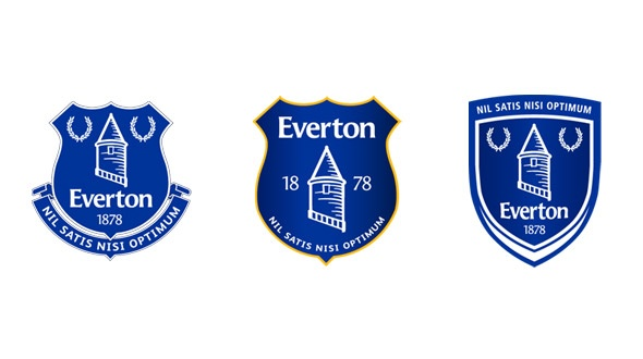 The three crest options Everton fans voted on