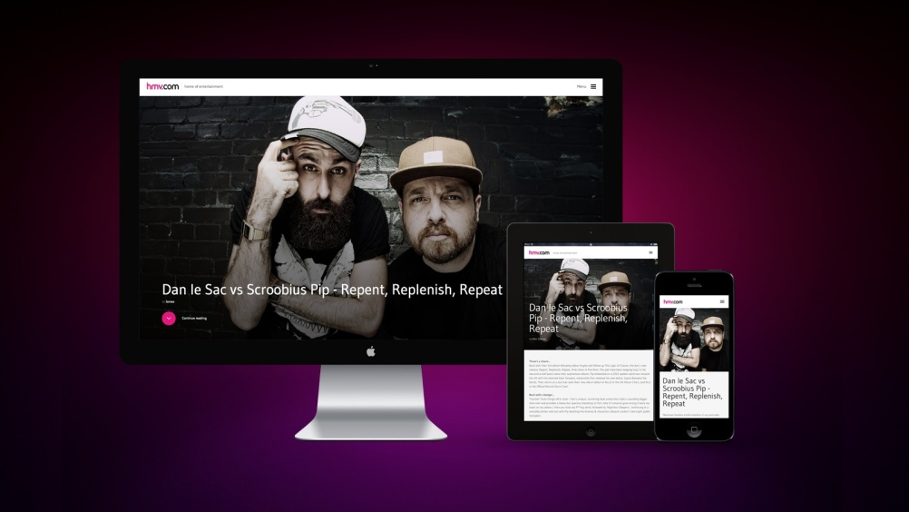 The new HMV site