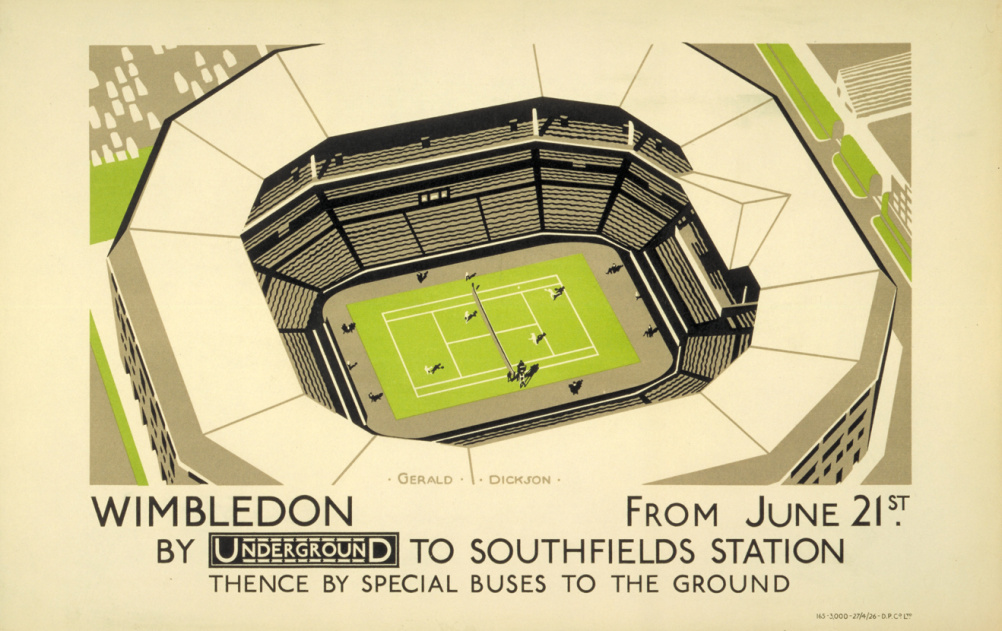 Sporting events were often promoted on small panel posters inside tube cars