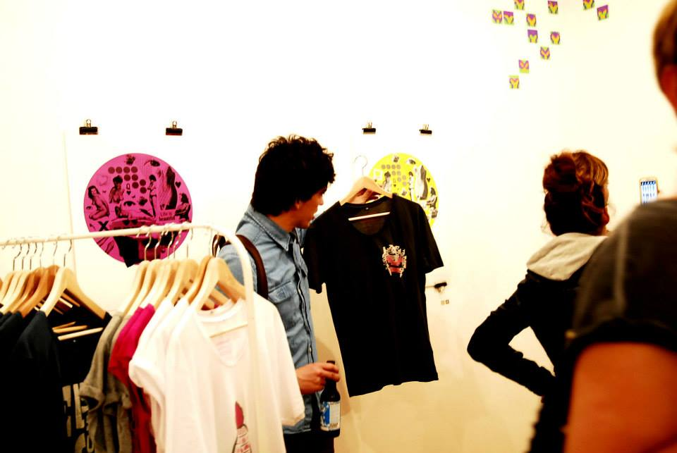 The Breast Movment T shirts on sale at the exhibition