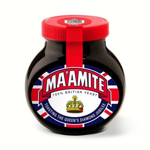 Limited-edition Diamond Jubilee Ma'amite packaging, by Hornall Anderson