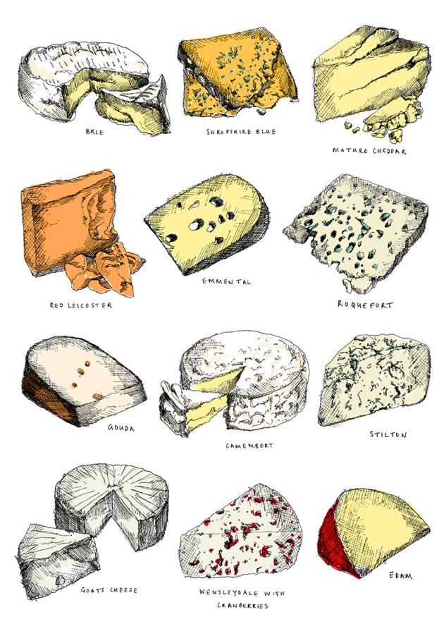 Twelve cheeses