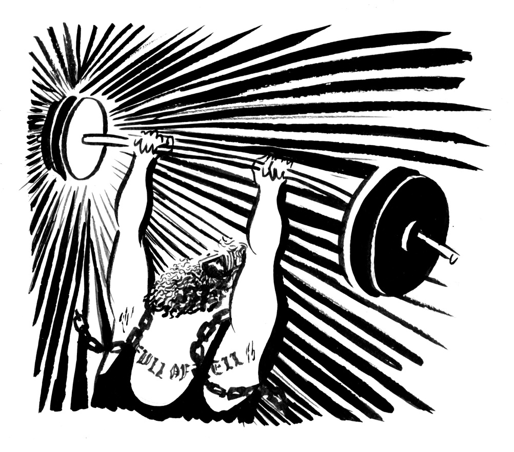 Weightlifter, by Hannah Simpson