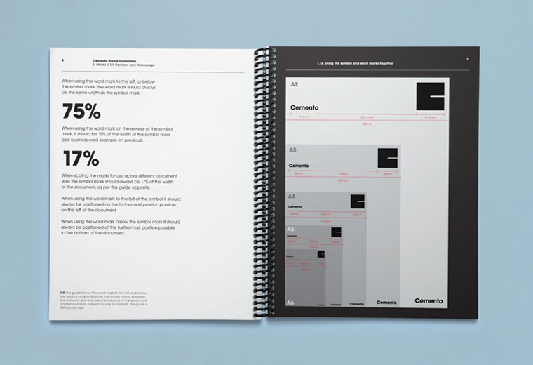Cemento brand guidelines book