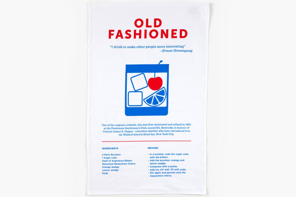 Crispin Finn Old Fashioned tea towel