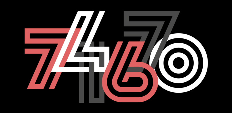Lunetta typeface digits.