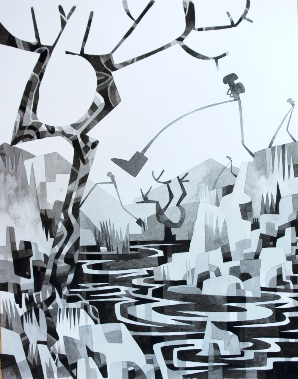 Wintery illustration