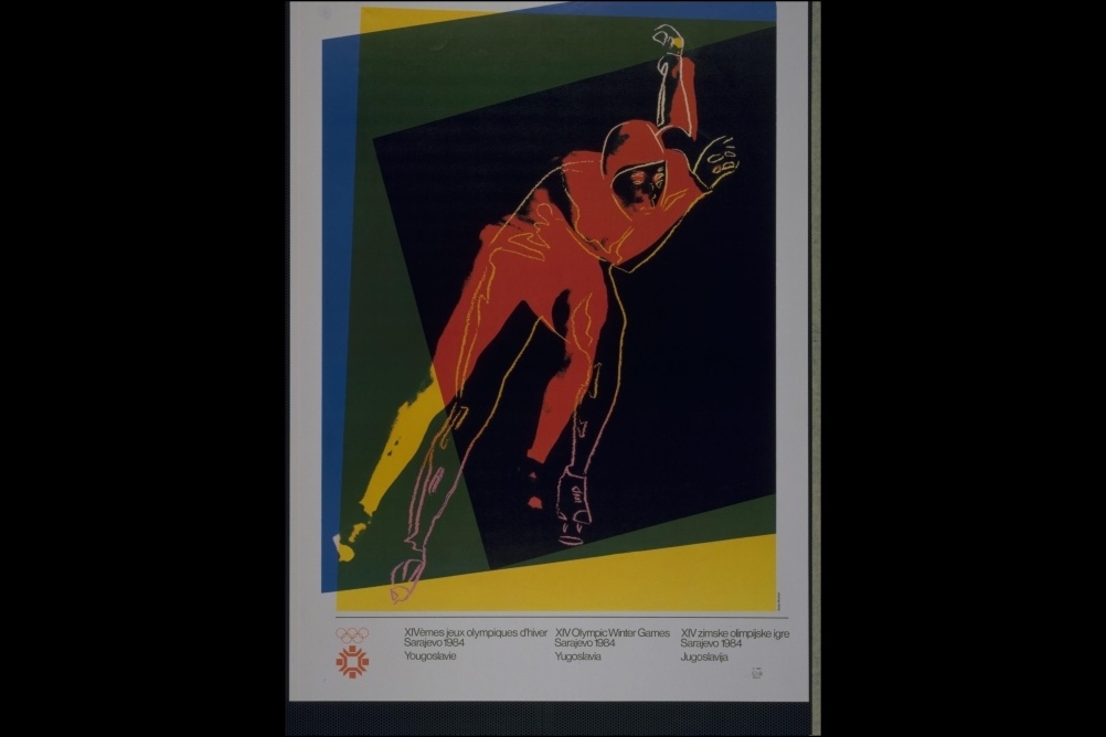 Andy Warhol created a series of official Olympic posters for the 1984 Sarajevo Olympic Games