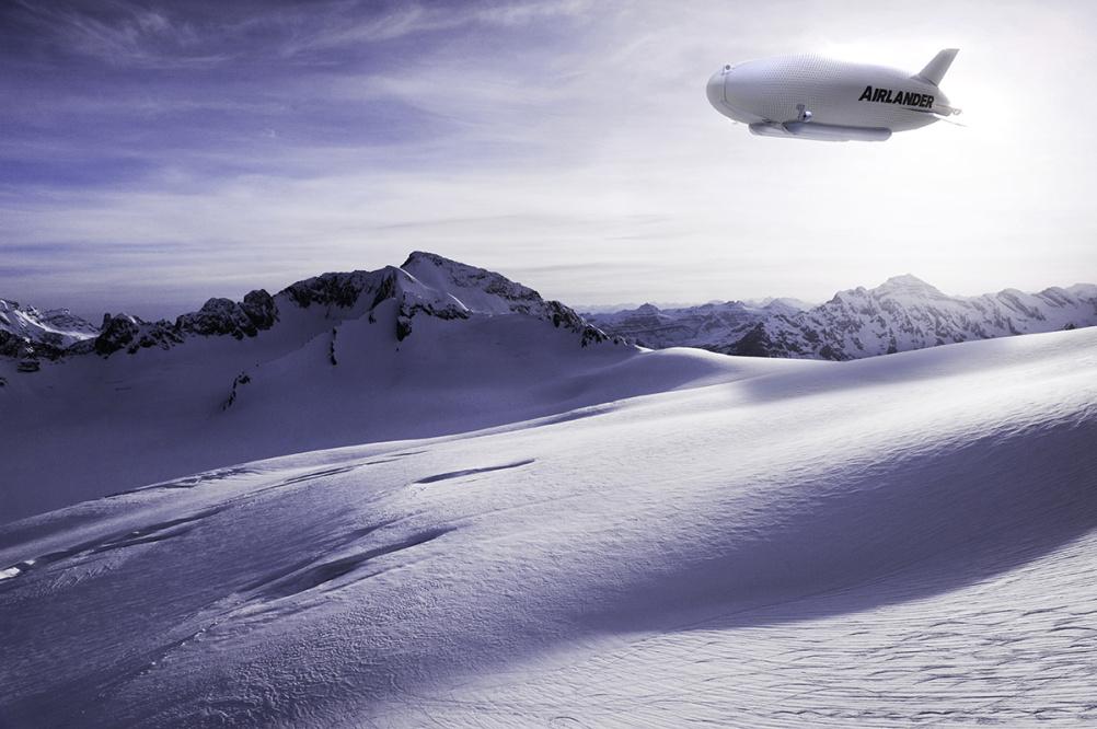 CGI of the Airlander in flight