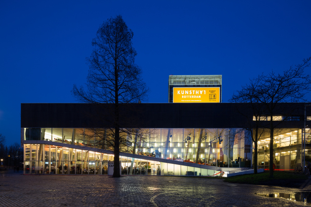 Kunsthal Rotterdam by night