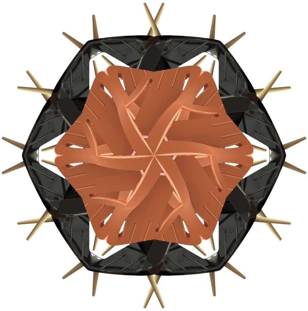 Kaleidoscope made from Eco-friendly outdoor furniture by Isodore, designed by Didier Codron and Jacques-Alexandre Habif