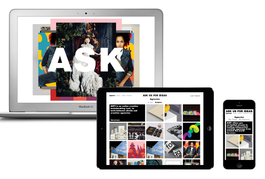 Ask Us For Ideas site on different devices