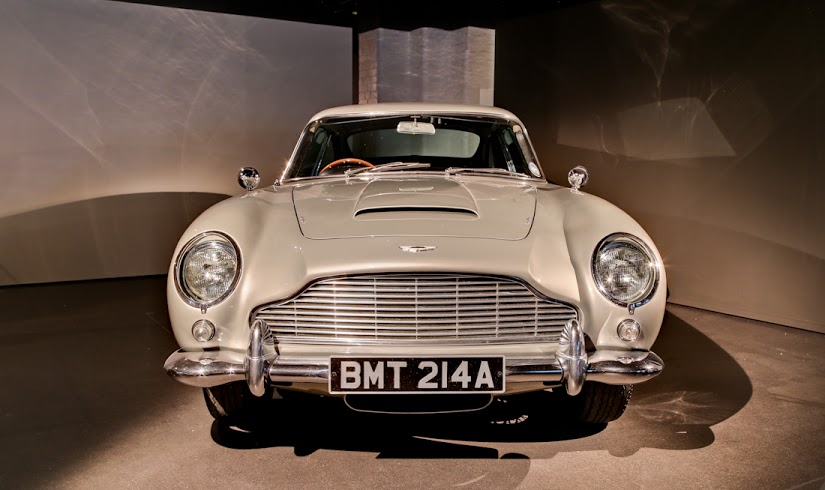 A vehicle at the Bond in Motion exhibition