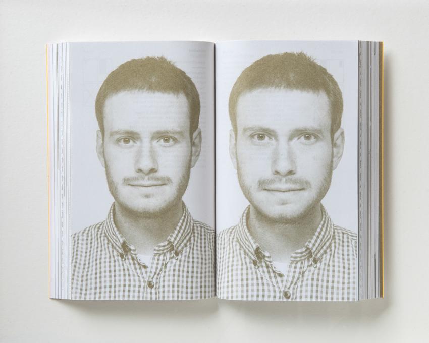 Oli Kellett reworked a portrait of himself based on Golden Ratio proportions