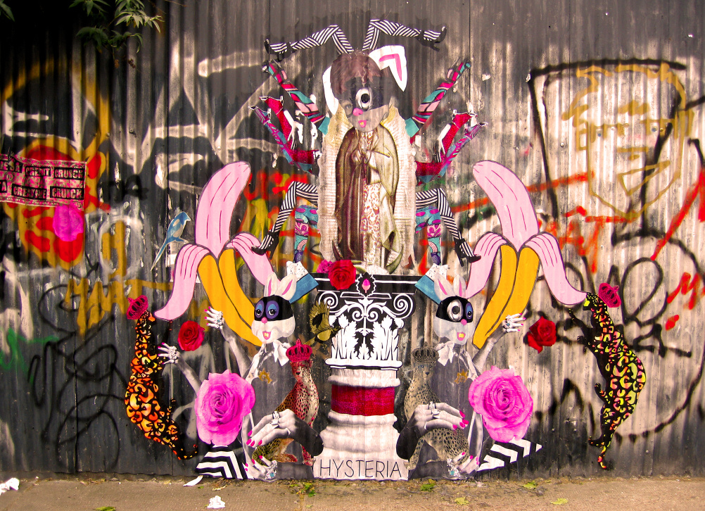 Work by Hysteria on Brick Lane, east London