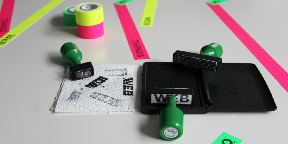 Web of Things tape and stamps
