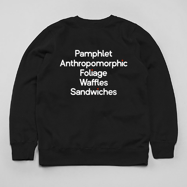 Typeface Sweatshirt by Andy Cooke
