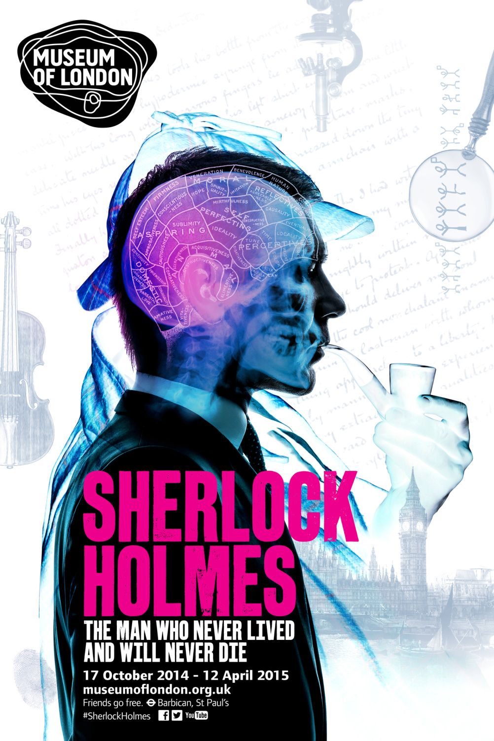 Sherlock Holmes: The Man Who Never Lived. Campaign design by AKA