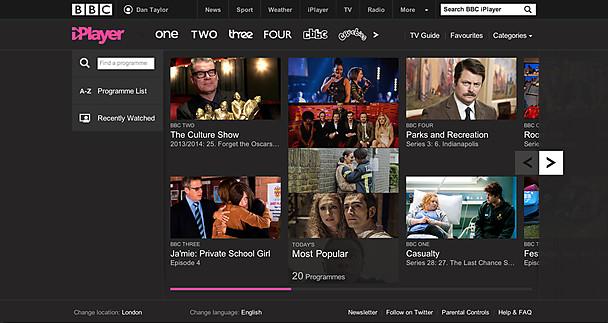 The new iPlayer homepage