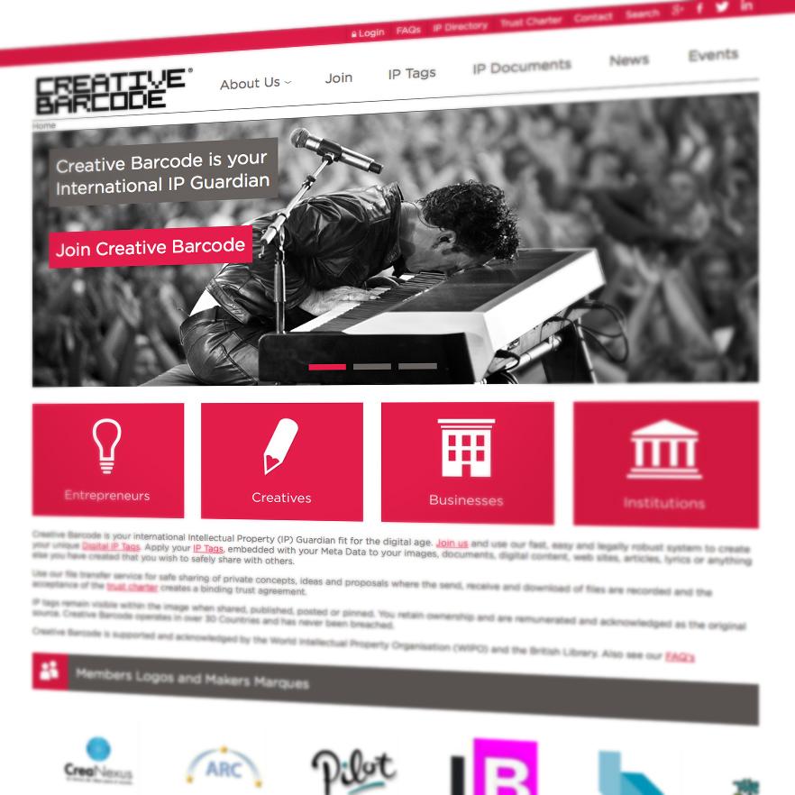 Creative Barcode website