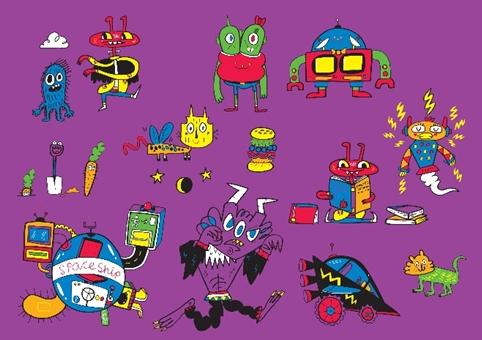 Jon Burgerman's Imagine Children's Festival characters
