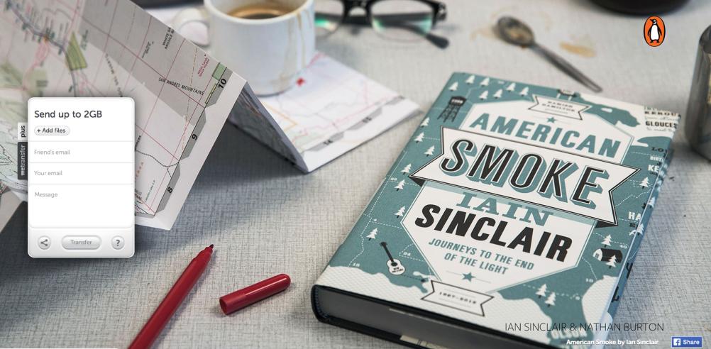 Iain Sinclair, American Smoke (Cover: Nathan Burton)