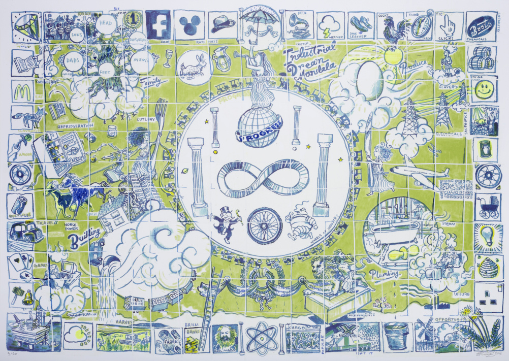 Sketch for Industrial Dream Mandala Josh Knowles