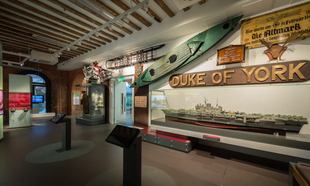 HMS Hear My Story - Artefact Wall Cockle boat view