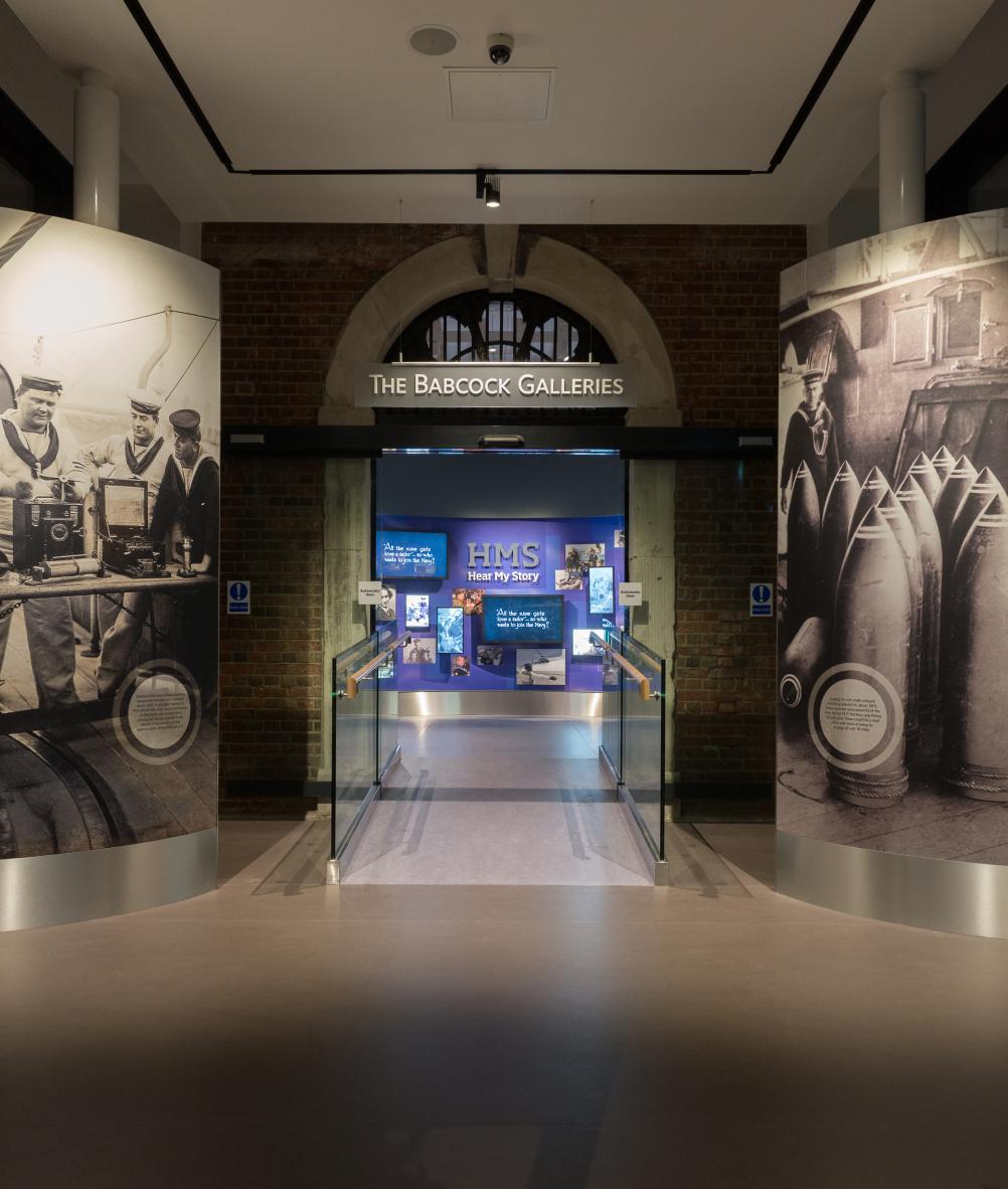 HMS Hear My Story - Babcock Galleries entrance