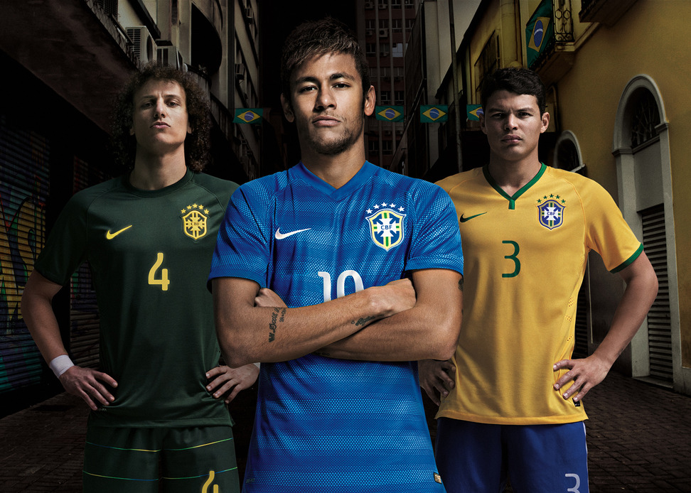 Brazil's new third, away and home kits