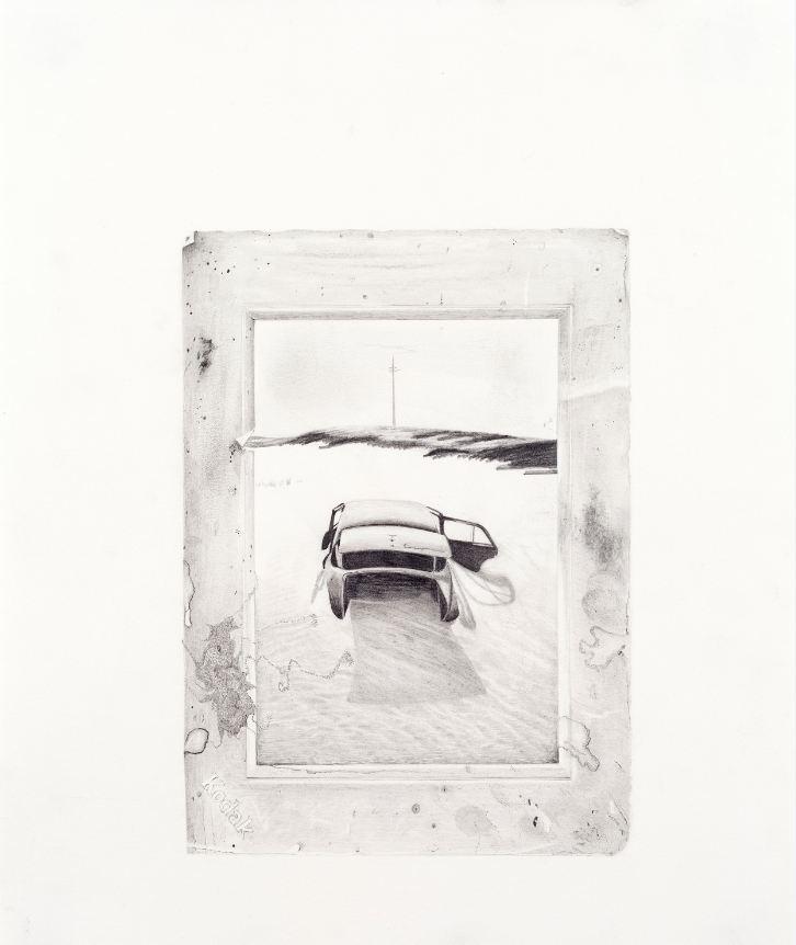 Car in Desert Photograph