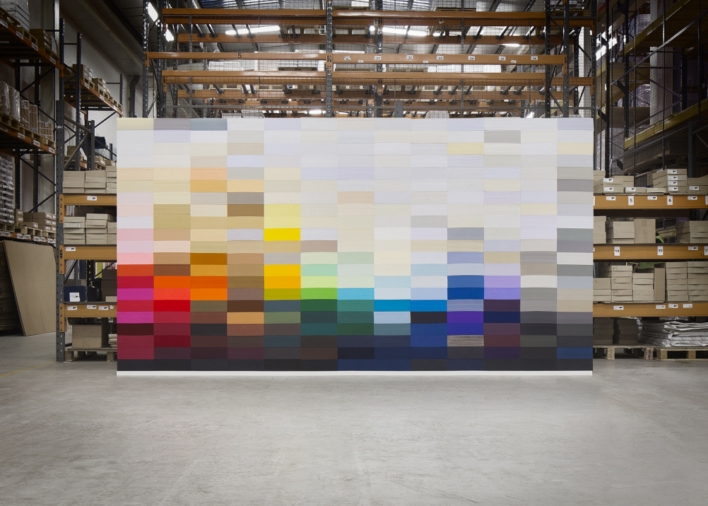 The Collection Wall - built in GF Smith's Hull warehouse