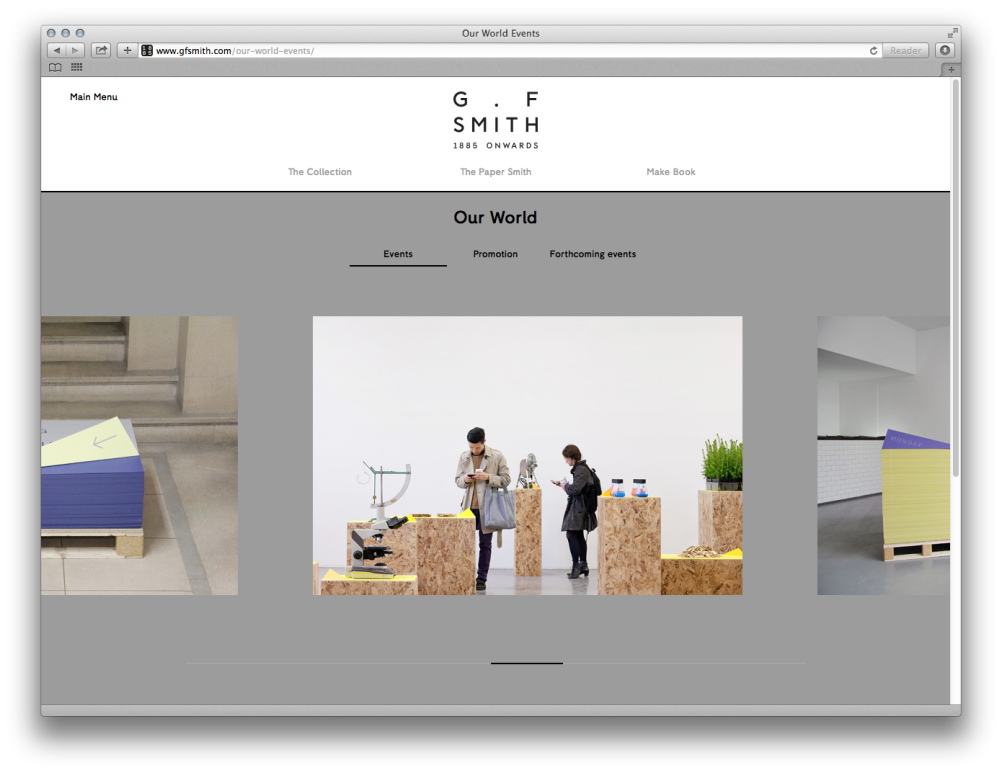 The new GF Smith Collection website