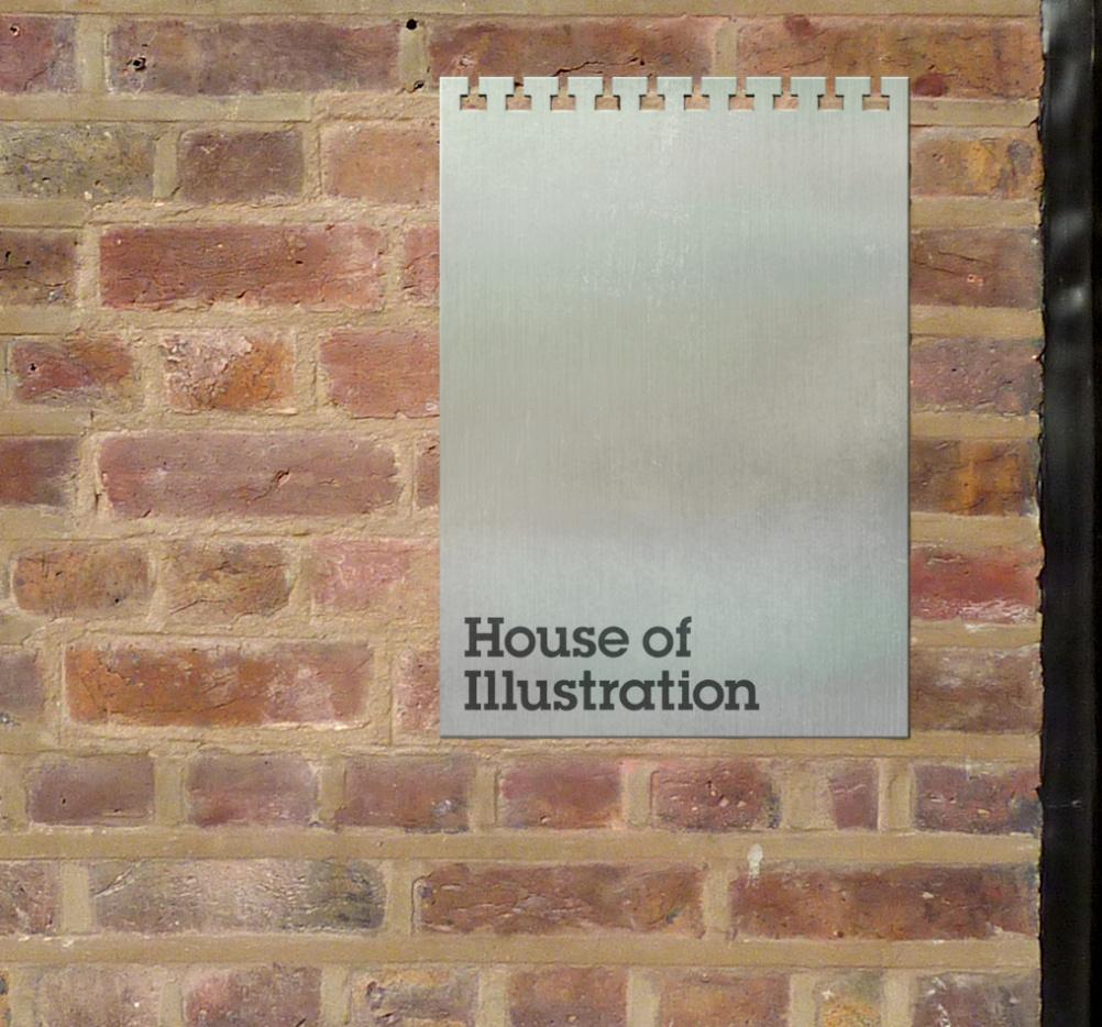 House of Illustration internal signage design