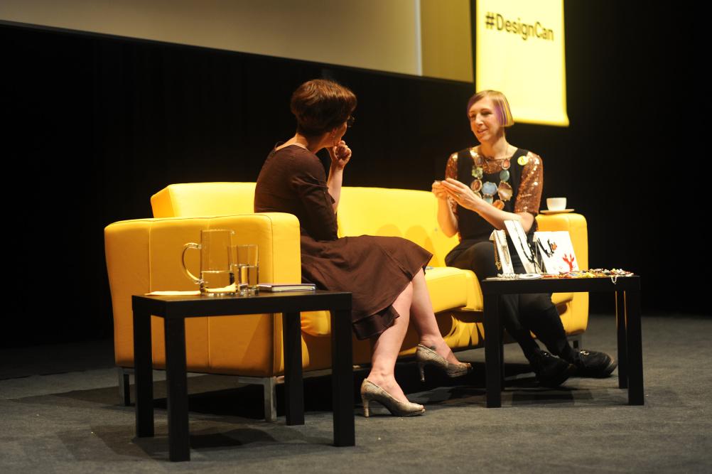 Harriet Vine talks to interviewer Fi Glover