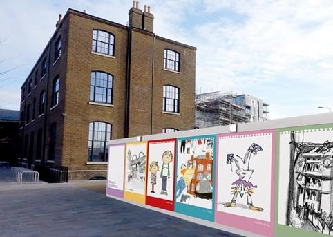 House of Illustration Hoarding